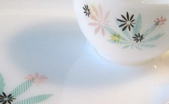 Federal Milk Glass Luncheon Set