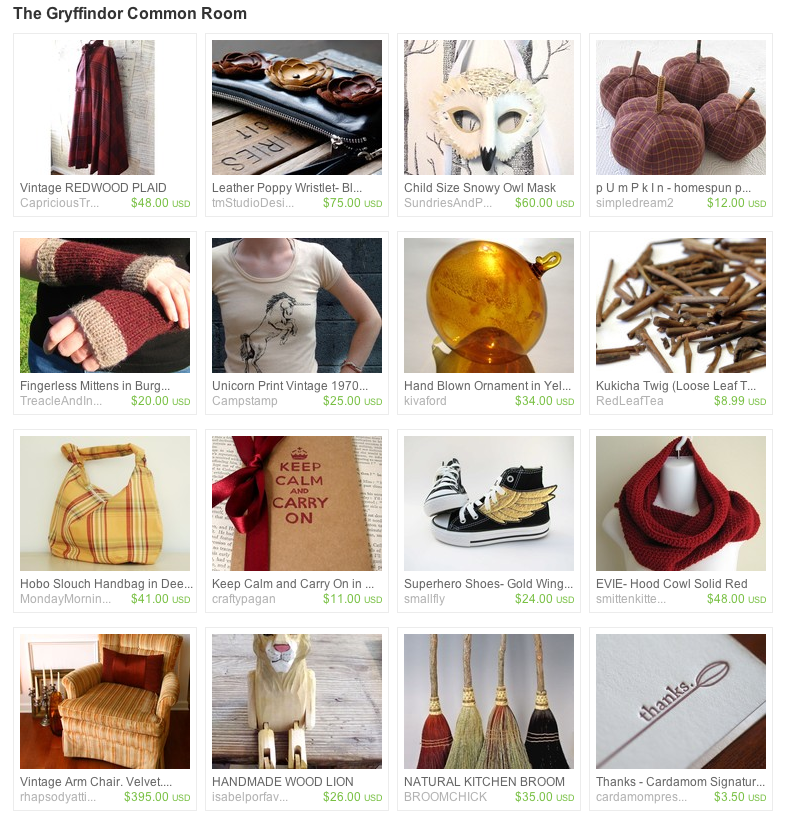 Gryffindor Themed Treasury