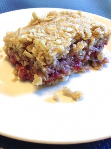 My Raspberry Oatmeal Bars